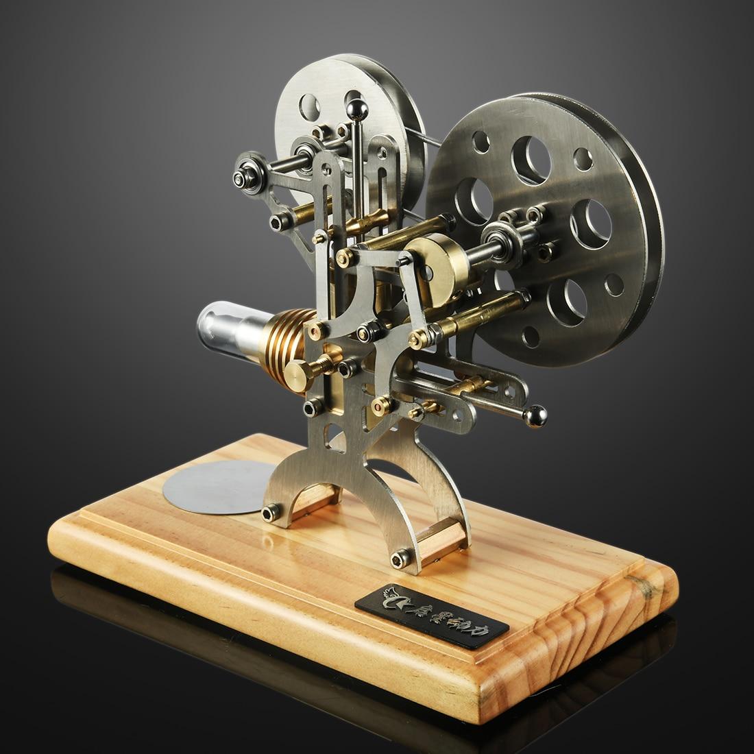 Retro Stirlingmotor Motor Externe Verbrandingsmotor Wetenschap Educatief Model Decoratie Soild Houten Basis-in Modelbouwen Kits van Speelgoed & Hobbies op  Groep 3