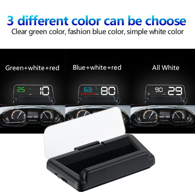 Car C500 5 inch OBD2 HUD Head-up Display Smart Computer Digital Fuel Consumption Car Speed Projector On-Board Fuel Mileage 5 0 inch car speedometer gps obd2 head up display car speed projector on the windshield auto hud fuel mileage diagnostic tool