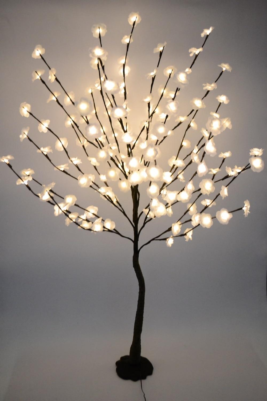52 160 светодиодный мини розовый цветок дерево светильник с основой природа ствол Праздник Новый год Свадьба Luminaria декоративные дерево свет