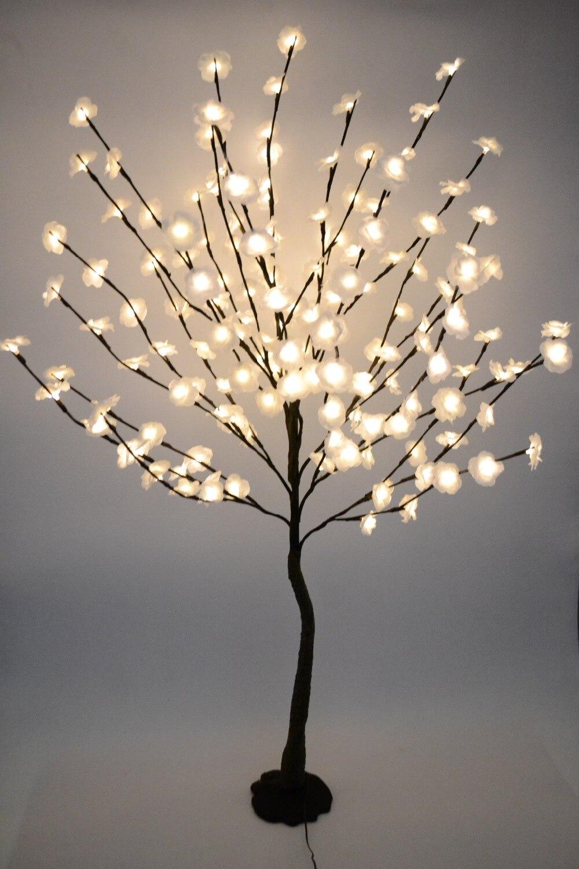 52 160 LED Blossom Mini Rose Bloem Boom Licht Met Base Natuur Kofferbak Vakantie Nieuwjaar Wedding Luminaria Decoratieve boom Ligh