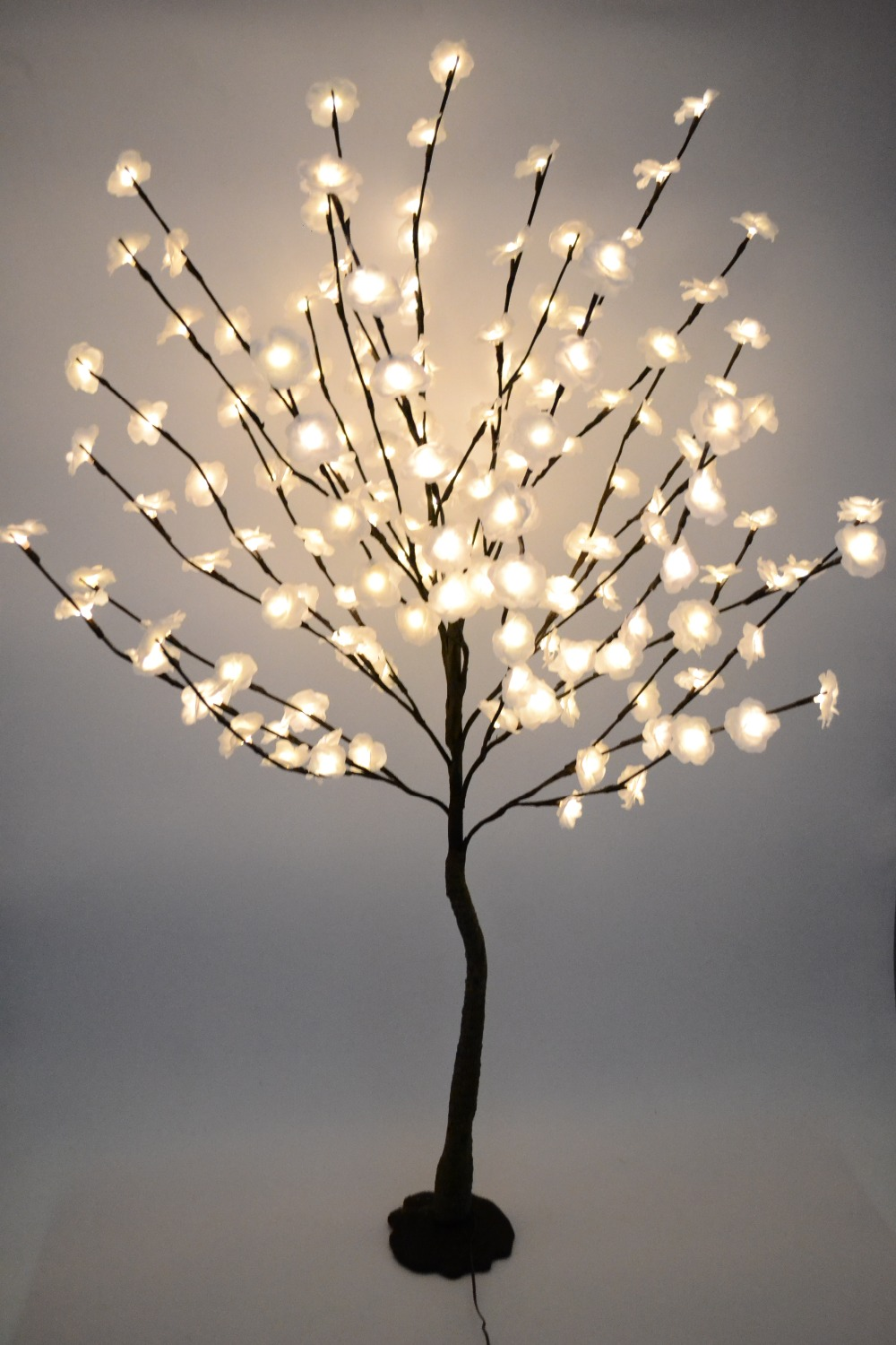 52 160 LED Blossom Mini Rose Flower Tree Light With Base Nature Trunk Holiday New Year Wedding Luminaria Decorative Tree Ligh