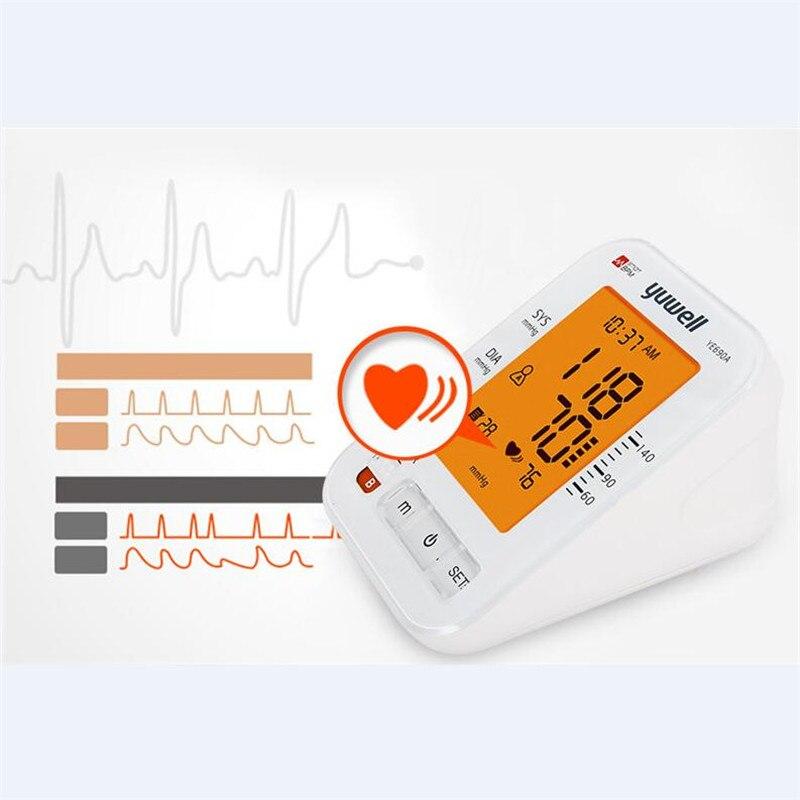 Image 5 - Yuwell 690A الذراع مراقبة ضغط الدم LCD الرقمية مقياس نبض القلب قياس ضغط الدم جهاز الرعاية الصحية المنزلية الطبيةضغط الدم   -