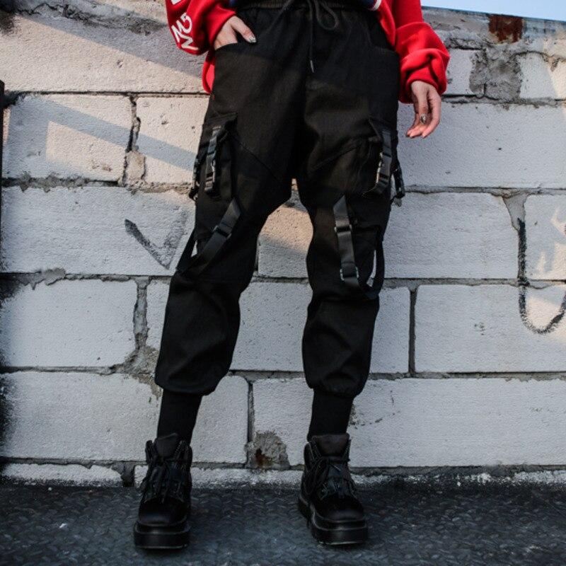 Nueva Punto Alta Jr549 Cinta La Bolsillo Primavera Las 2019 Moda De sordo Black Negra Marea Pantalones Cintura Mujeres Elástica Sueltos Verano P8X5Hxwq