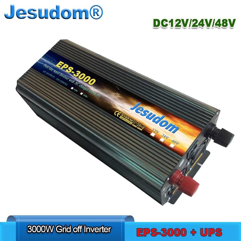 3000W UPS Uninterruptible power supply 3000w pure sine wave Inverter Surge Power 6000W 6KW DC12 24