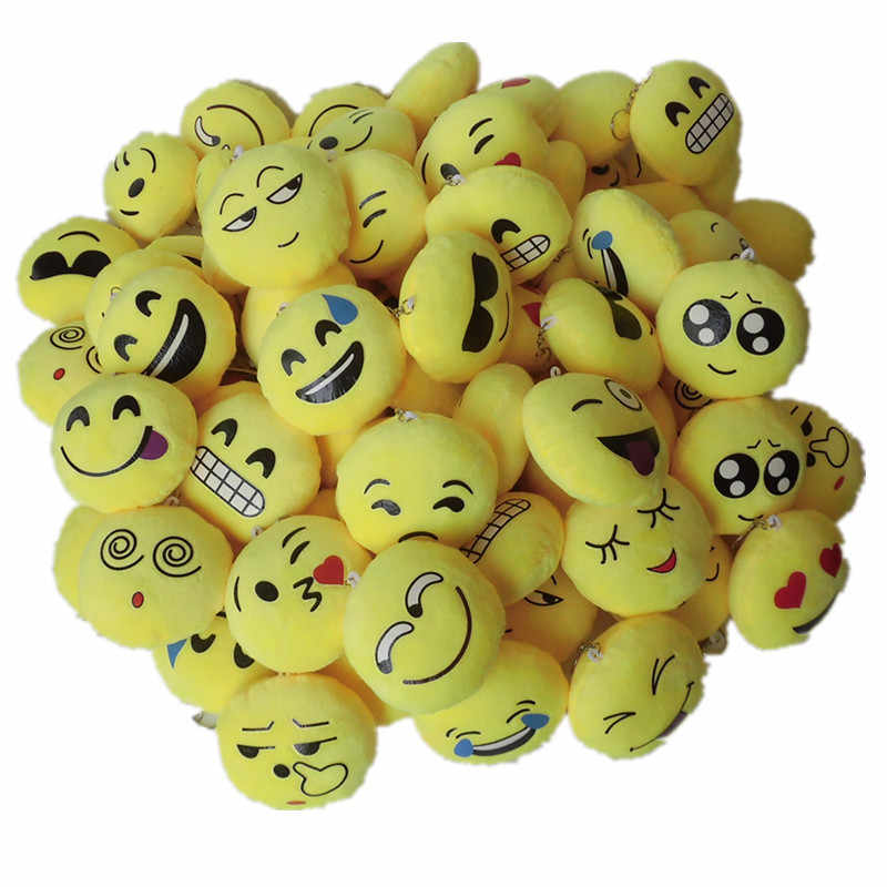 Cute Plush Emoji Keychain Party Favors Souvenirs Gifts For Guests Game Prize Birthday Gift