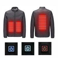 2018 Мужская Женская зимняя уличная USB инфракрасное Отопление с капюшоном походная куртка электрический тепловой пуховик для спорта альпини
