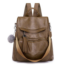 Female Soft Leather Mini Backpacks Students Ball Shoulder Schoolbags Women Fashion Small Travel Bags Laptop Messenger 2019 C831(China)