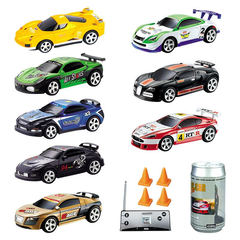 8 Colors Coke Can Mini RC Car Radio <font><b>Remote</b></font> <font><b>Control</b></font> Micro Racing Car <font><b>27Mhz</b></font>, <font><b>40Mhz</b></font> High Speed Drift Car Model Toy For Kids Gift image