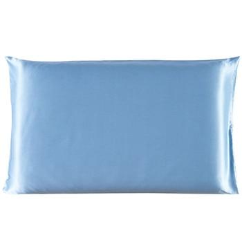 Classic Satin Silk Plain Pillow Case 2
