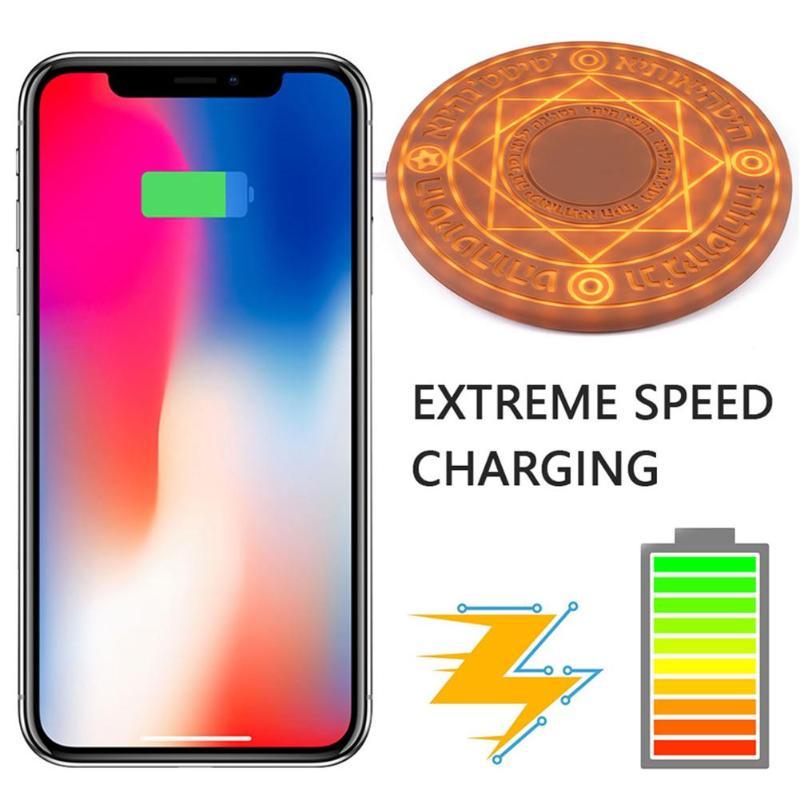Chargeur sans fil Magic Array 5 W/10 W Magic Circle Qi chargeur rapide universel sans fil chargeur avec boîte SUP livraison directe