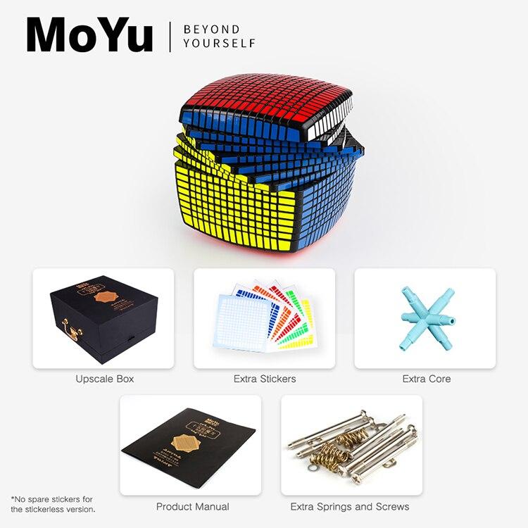 Nouvelle Promo MOYU 15 couches 15x15x15 noir, sans autocollant Cube vitesse magique Puzzle 15x15 éducatifs Cubo magico jouets pour enfant - 6