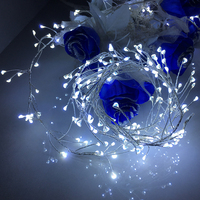 Silver wire LED fairy firecrackers lights 66.9 Length,196 LEDs copper light string christmas garland lighting chain decor