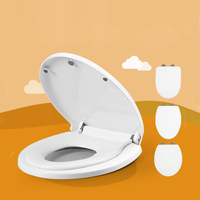 White Color PP Material 3 Models Child and Adult Both Size of Toilet Seats
