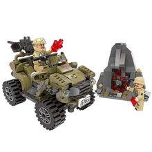hot LegoINGlys military WW2 army SUV vehicles war MOC Building Blocks model mini weapons figures bricks toys for children gift
