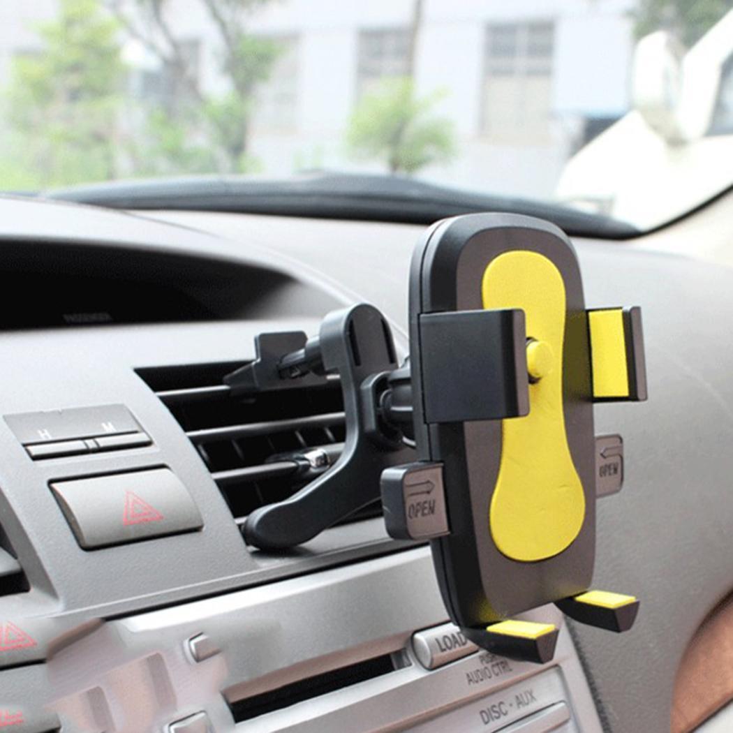 Doelstelling Een Klik Release Auto Telefoon Houder Universal Air Vent Mount Auto Houders Stand Mobiele Ondersteunt Comfortabel Gevoel