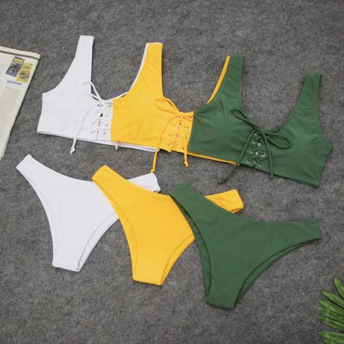 Women Bandage Cross Solid Bikini Set Swimming Suit Push-up Padded Brazilian Swimsuit Swimwear Beachwear Bathing SuitWomen Bandage Cross Solid Bikini Set Swimming Suit Push-up Padded Brazilian Swimsuit Swimwear Beachwear Bathing Suit