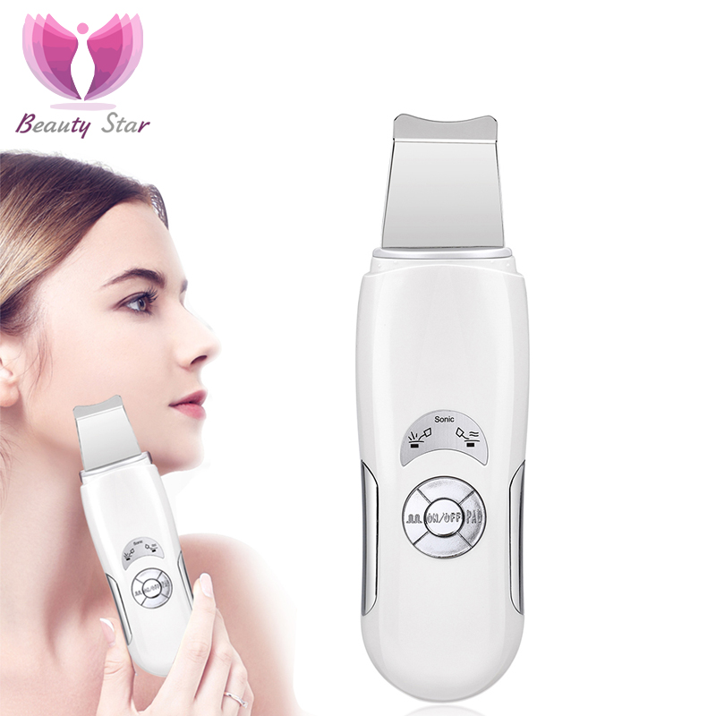 Skin-Scrubber Facial-Massage-Machine Deeply Peeling Face-Cleaning Ultrasonic Beauty Star