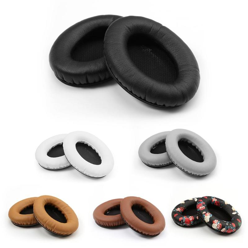 1 Pair Black-Inner Leather Replacement Earpads Ear Pad Pads Cushion for Bose Quietcomfort 2 QC2 QC15 QC25 AE2 Headphones Headset