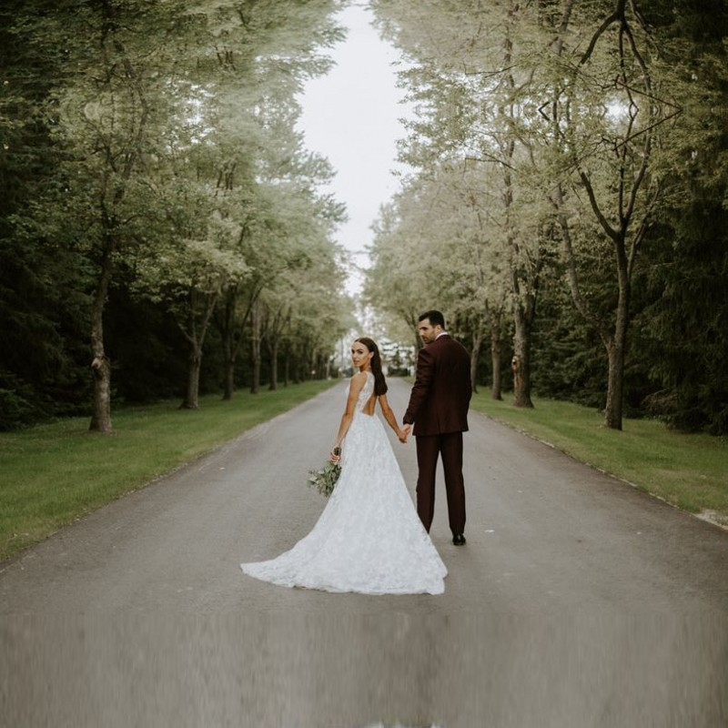 Wedding gowns Simple Backless Alibaba Wedding Dresses 2019 V neck Criss cross Sheer Wedding Dress Custom Made in Wedding Dresses from Weddings Events
