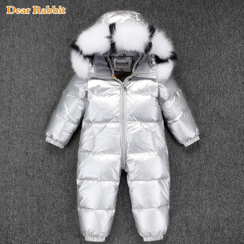 30 Russian Winter Snowsuit 2019 Boy Baby Jacket 90 Duck Down Outdoor Infant Clothes Girls
