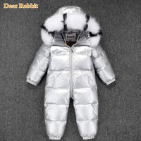 30 Russian Winter Snowsuit 2018 Boy Baby Jacket 90% Duck Down Outdoor Infant Clothes Girls Climbing For Boys Kids Jumpsuit 2~5y
