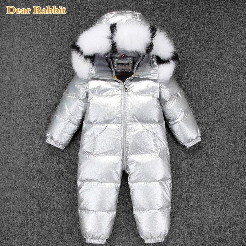 30 русский зимний комбинезон 2019 для маленьких мальчиков детская куртка 90% белая утка вниз гусиный пух для младенцев; одежда для альпинизма для мальчиков Детский спортивный костюм От 2 до 5 лет
