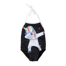 2018 Unicorn One Piece Swimsuit Toddler Kids Baby Girls Bikini Swimwear Swimsuit Bathing Suit Beachwear Swimming Suit For Girls недорого
