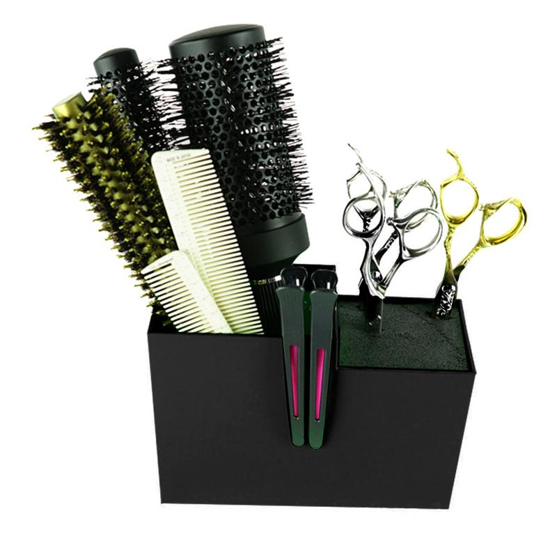 Profession Salon Scissors Holder Rack Hairdresser Scissor Storage Case Keeper Hairdressing Combs Clips Accessories Hair Stylist