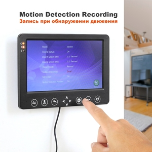 Image 3 - HomeFong video intercom 7 inch HD Wired video door phone Camera Support IR Night Vision motion sensor Doorbell for Home Security