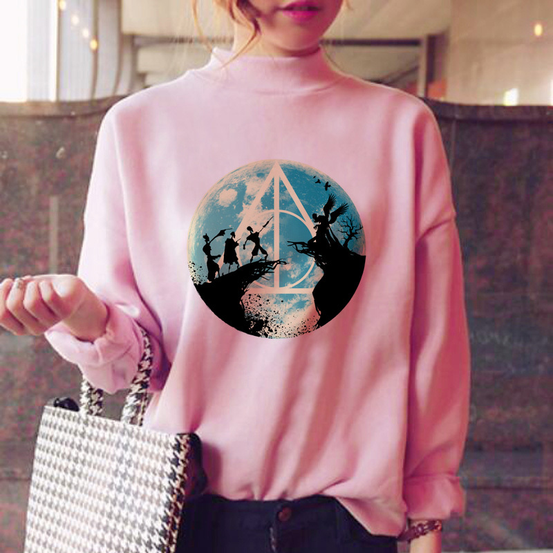 Hogwarts Hoodies Women Harajuku Fashion Ulzzang Japanese Hood Kawaii Winter Warm Ulzzang Streetwear