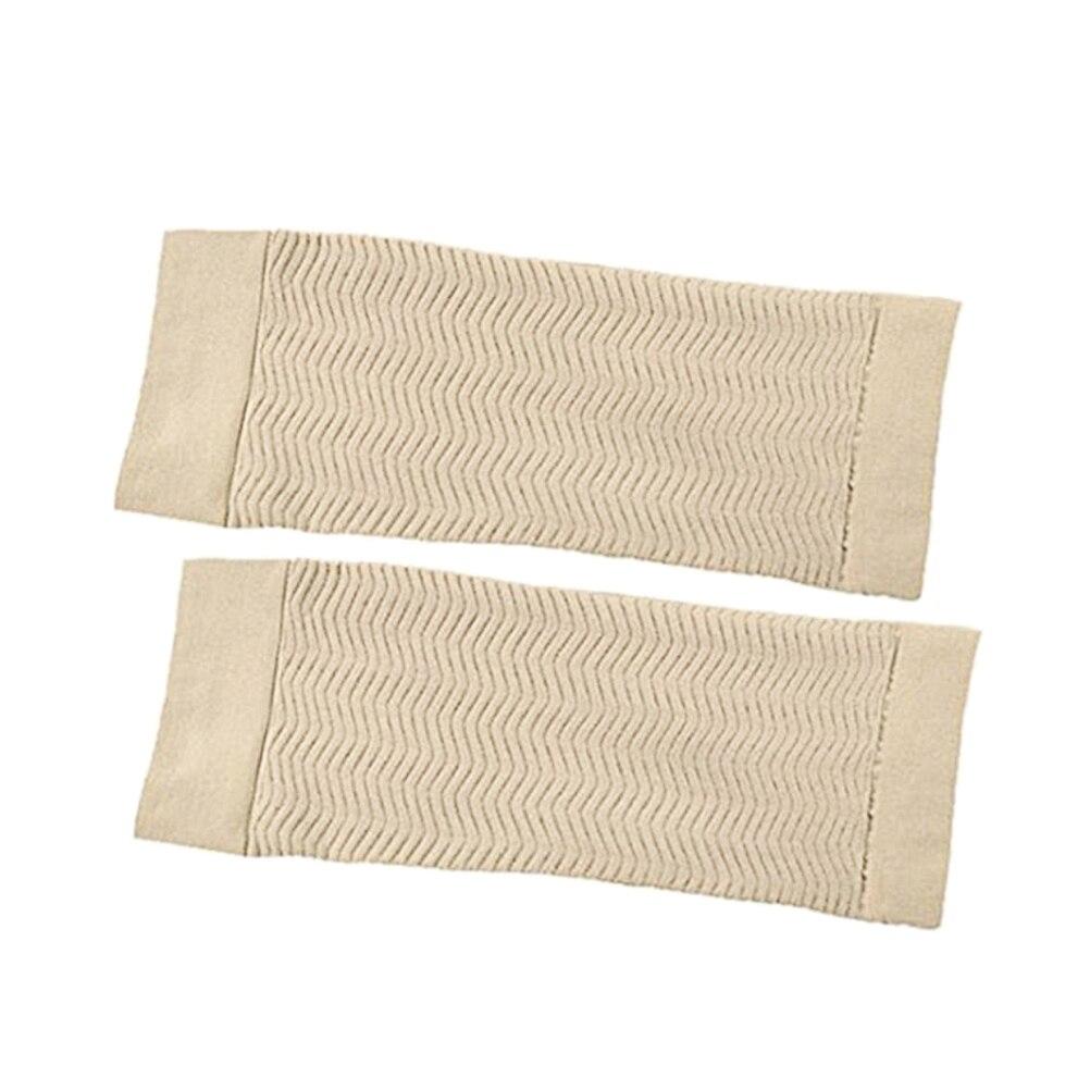 Frauen Elastische Shaperwear Abnehmen Arm Gestaltung Ärmeln Former beige Exquisite Traditionelle Stickkunst