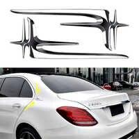 2Pcs 3D Badge Emblem Side Body Decor Trim For Mercedes Benz AMG W211 W203 W204 A180 A200 B180 B200 CLA Accessories Sticker