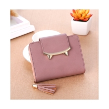 Short Wallet Ladies Coin Purse Korean Cute Student Simple Handbag Small Fresh Card Bag