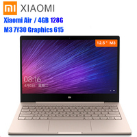 Xiaomi Air 12 Notebook 12.5'' 1080P IPS Screen Windows 10 Intel Core M3 7Y30 4GB+128GB HDMI Laptop Fast Charging Type C