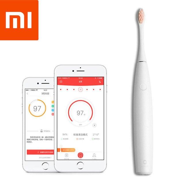 Xiaomi cepillo de dientes eléctrico recargable inteligente aplicación de Control inteligente de la salud Dental cepillo de dientes