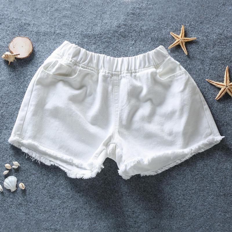 2020 Elastic Waist Denim Shorts For Women White Black Summer Vintage Sexy Pocket Jeans Shorts Feminino Plus Size 5XL