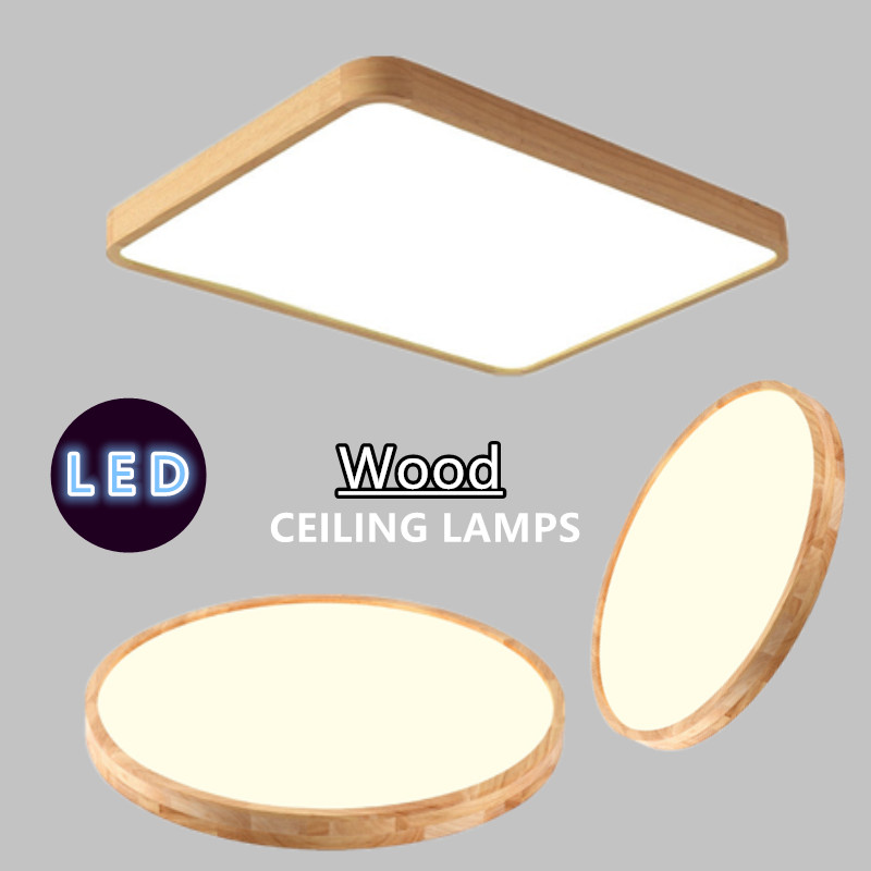 Wood Art Modern LED Ceiling Light For Living Dining Room Bedroom Home Deco Indoor Lighting Fixture Surface Mounted Lampara Techo