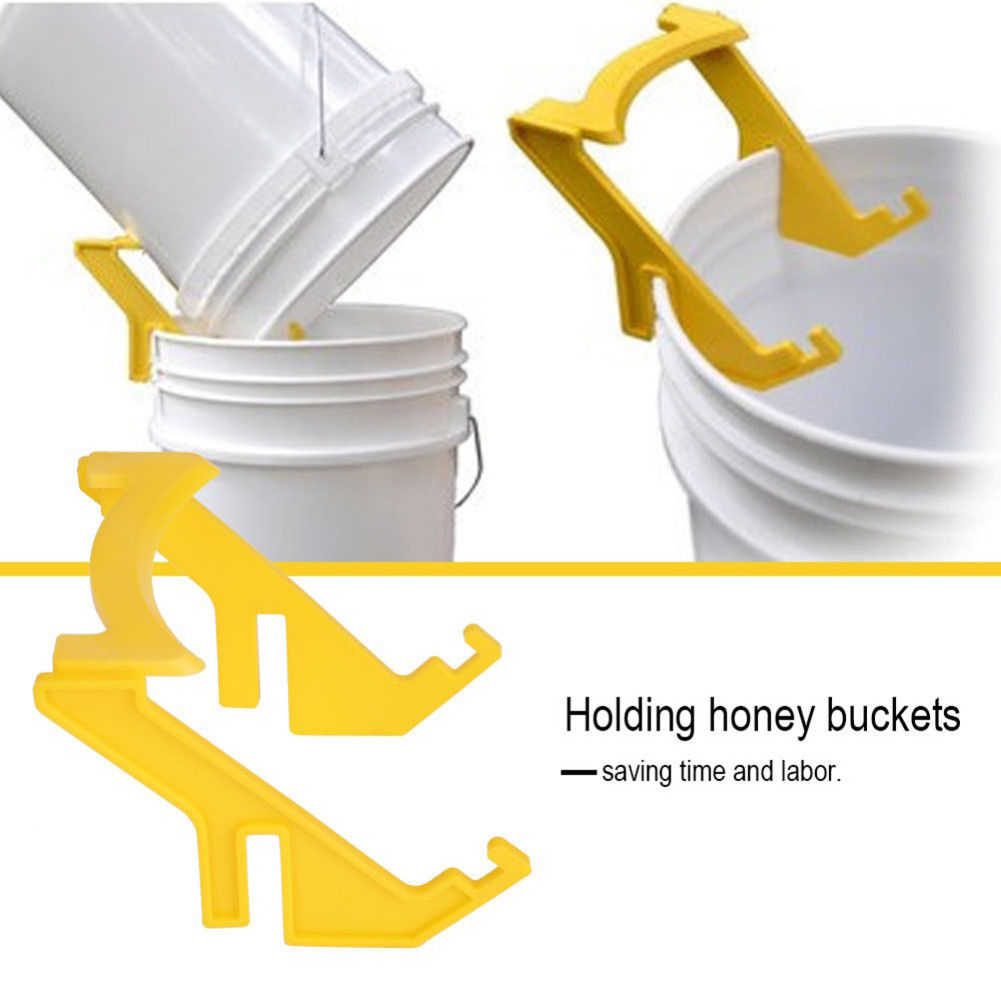 Plastic Bee Holder Honey Bucket Rack Frame Grip Holder Beekeeping Holder Rack A+