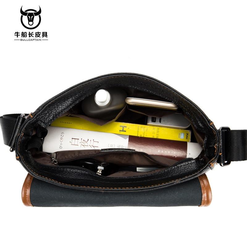 Image 3 - Cow Genuine Leather Messenger Bags Men Travel Business Crossbody  Shoulder Bag for Man Handbags Messenger Small Men Cow LeatherCrossbody  Bags