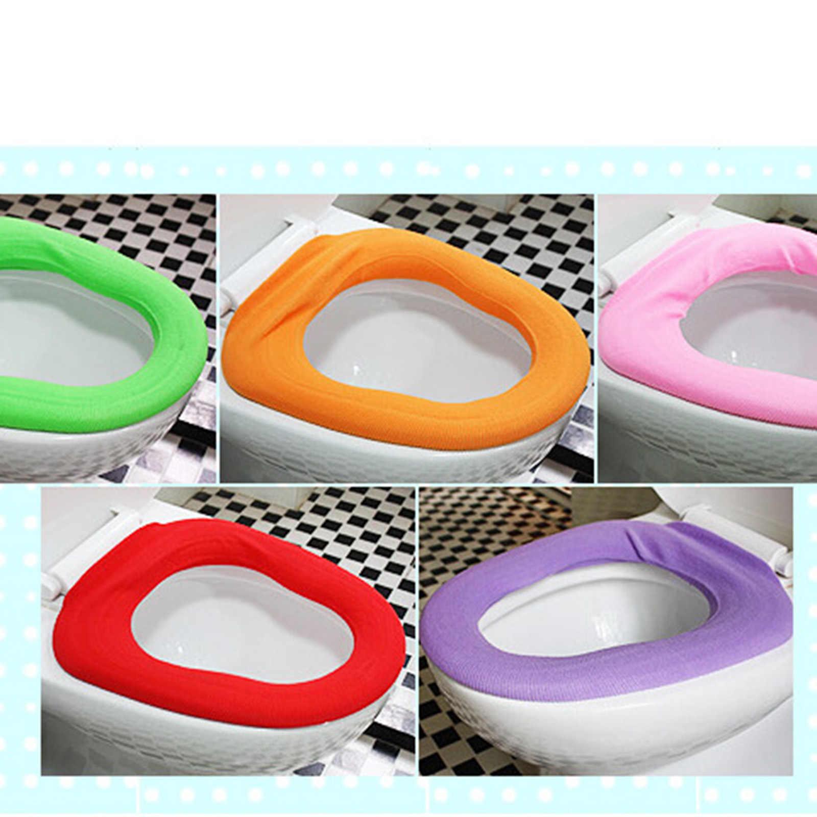 Nuevo Color caramelo de alta calidad Suave más cálido baño asiento de inodoro funda de asiento para inodoros cómodo asiento de orinal de bebé lavable