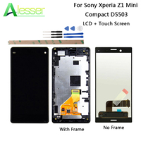 Alesser For Sony Xperia Z1 Mini Compact D5503 LCD Display + Touch Screen For Sony Xperia Z1 Mini Compact D5503 +Tools + Adhesive