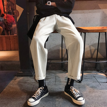 Mens Casual Pants 2019 Spring New Youth Popular Loose Slim Simple Trousers Clothing