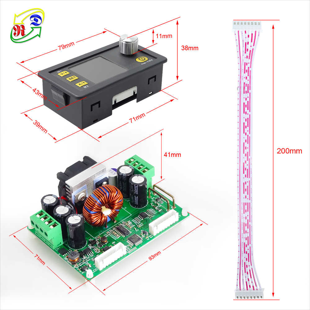 RD DPS3012 Постоянное Напряжение Ток понижающий Программируемый Модуль питания понижающий преобразователь напряжения ЖК-вольтметр 32 В 12A
