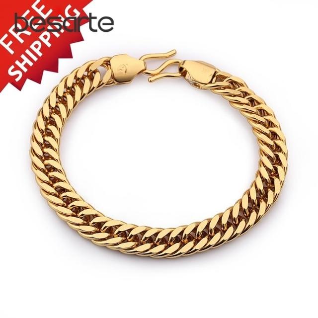 Gold Filled Snake Bracelets & Bangles Men Jewelry Indian Bangle Pulseras Brazalete Pulseiras Braceletes Ouro Armband B0802