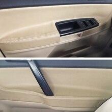 Cubierta para Panel de puerta Interior de cuero de microfibra para coche, embellecedor para VW POLO 2004 2005 2006 2007 2008 2009  2011 Hatchback/Sedan