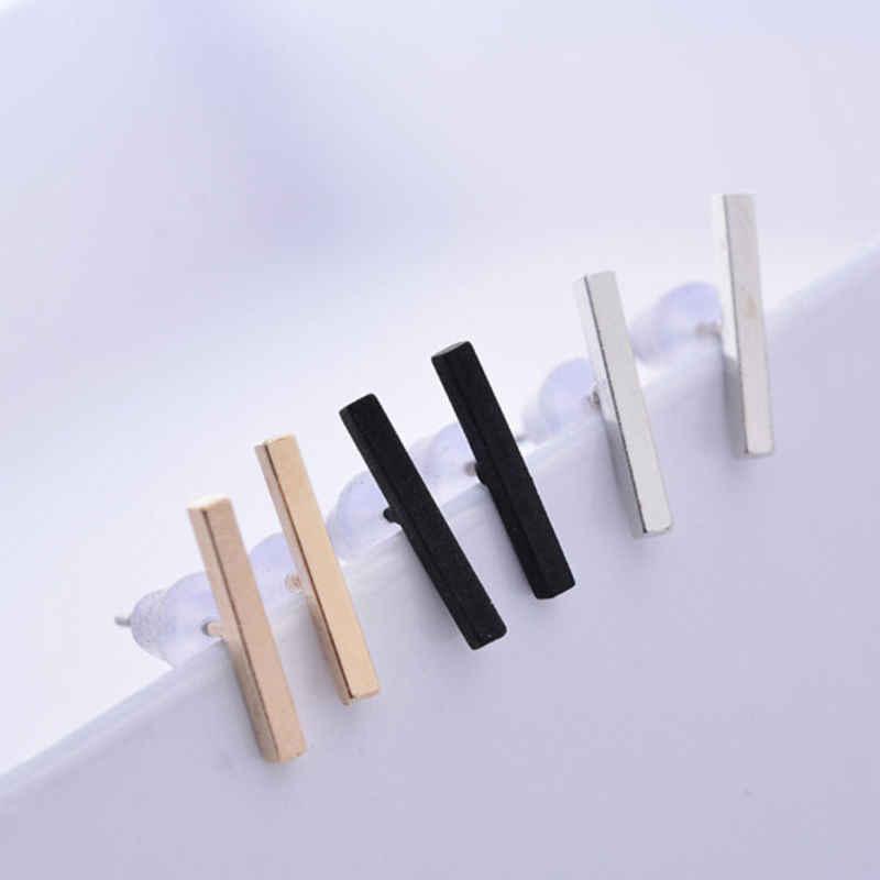 אופנה מינימליסטי דק בר T בצורת מצרך עגיל 3 צבעים נשים מעדן אביזרי חתונה מסיבת עגיל 1 זוג