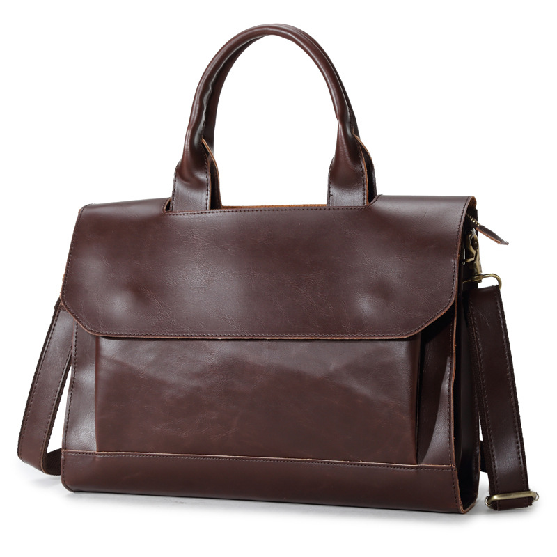 New Brand Casual Mens Leather Briefcase Bag Men Crazy Horse Messenger Bags Crossbody Shoulder Bag Man Office Laptop HandbagsNew Brand Casual Mens Leather Briefcase Bag Men Crazy Horse Messenger Bags Crossbody Shoulder Bag Man Office Laptop Handbags