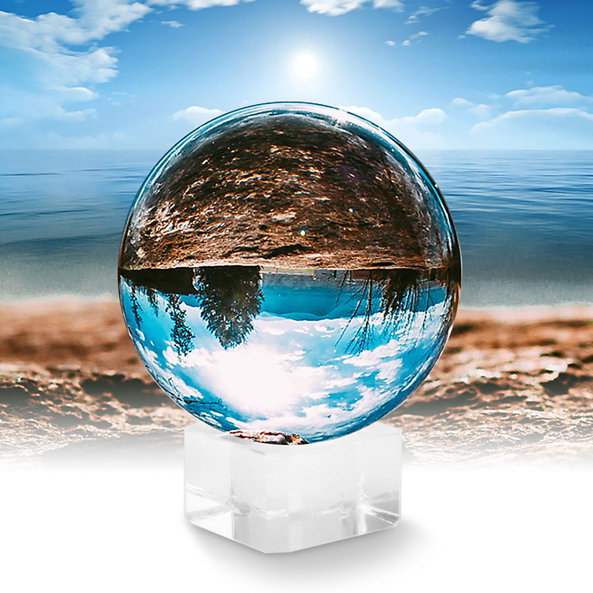 Photography Prop Crystal Ball Clear Lens Ball Ornament FengShui Globe Divination Quartz Magic Glass Ball Home Decor Sphere Photography Prop Crystal Ball Clear Lens Ball Ornament FengShui Globe Divination Quartz Magic Glass Ball Home Decor Sphere