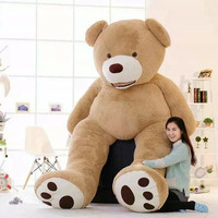 260cm American Giant Bear Skin Teddy Bear Coat High Quality Soft Toys For Girls Popular Gift