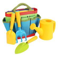 5pcs Children Garden Tools Set With Bag Outdoor Toy Kids Gardener Gardening Tool Educational Toys Birthday Gift For Boys Girls